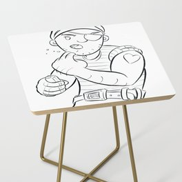 Stowaway Pirate - ink Side Table
