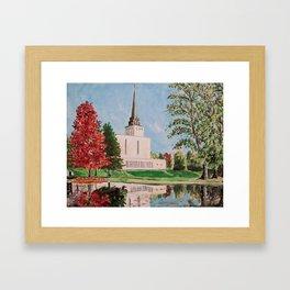 London England LDS Temple Painting Framed Art Print