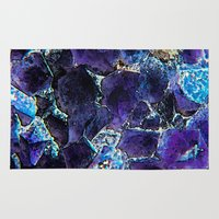 minerals Area & Throw Rugs featuring AMETHYST ABSTRACT by Catspaws