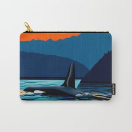 Orca into the Fire Sky Carry-All Pouch