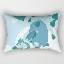 Ice Steampunk Fox Rectangular Pillow
