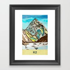 K2 Framed Art Print
