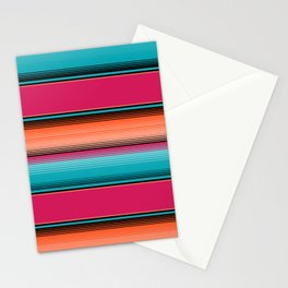 Traditional Mexican Serape in Teal Stationery Cards