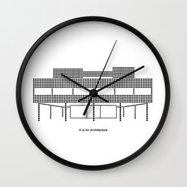 Corbu - A is for Architecture Wall Clock