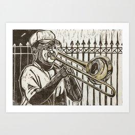 Trombonist Art Print