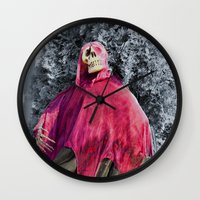 scary Wall Clocks featuring Scary! by IowaShots