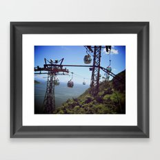 Fast Lane | Trolley Framed Art Print