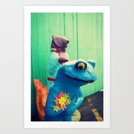 FrogBear Art Print