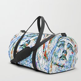 Glass stain mosaic 8 - Madonna, by Brian Vegas Duffle Bag