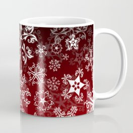 Symbols in Snowflakes on Holly Berry Coffee Mug