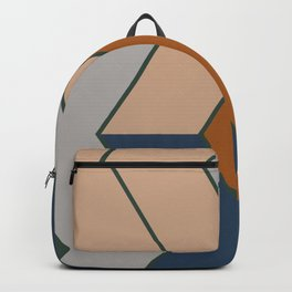 Modern Fall Winter Color Pattern Backpack