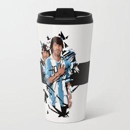 Football Legends: Lionel Messi Argentina Travel Mug