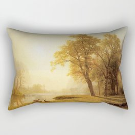 Kings River Canyon California 1874 By Albert Bierstadt | Reproduction Painting Rectangular Pillow