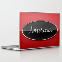 american Laptop & iPad Skins featuring American by politics