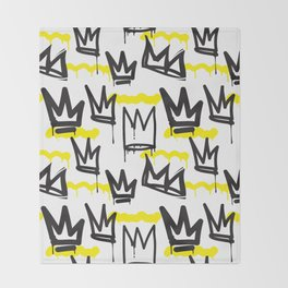 Graffiti illustration 04 Throw Blanket