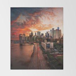 NEW YORK CITY IX Throw Blanket