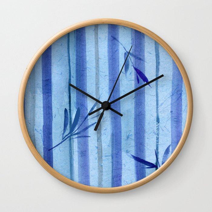 stripes blue rondo Wall Clock
