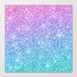 Pink Ombre Glitter Canvas Print