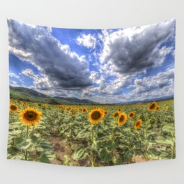 Sunflower Summer Field Wall Tapestry