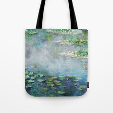 1906 Waterlilies oil on canvas. Claude Monet. Tote Bag
