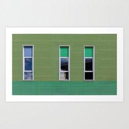 three asymmetric windows Art Print