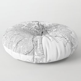 Sydney White Map Floor Pillow