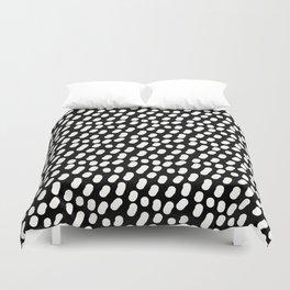 Dotts black and white Duvet Cover
