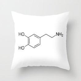Dopamine Molecule Throw Pillow