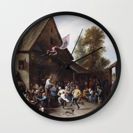 David Teniers The Younger - Kermis On St Georges Day Wall Clock