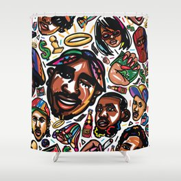 Eztaughtme Collage Shower Curtain