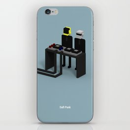 Voxel Daft Punk iPhone Skin