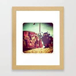 bot crossing Framed Art Print