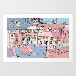 Harbour Quay Art Print