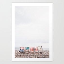 Stuff chairs beach Art Print