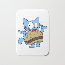 Hamburger Cat Bath Mat