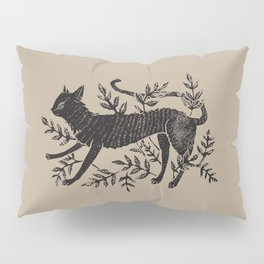 Cat in Vines Pillow Sham