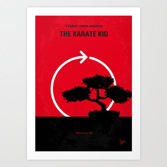 No125 My KARATE KID minimal movie poster Art Print