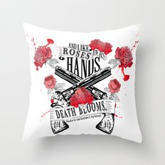 Illuminae - Death Blooms Throw Pillow