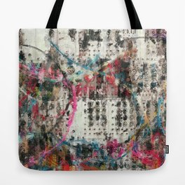 Analog Synthesizer, Abstract painting / illustration Tote Bag