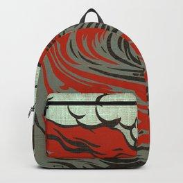Lava Meets The Sea Backpack