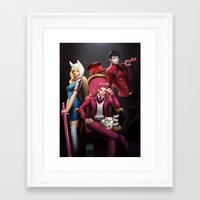 gumball Framed Art Prints featuring House Gumball by Meder Taab