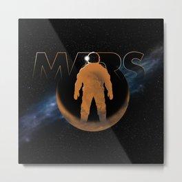 Mars (w/text) Metal Print