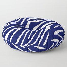 Animal Print: Zebra Blue and White Floor Pillow