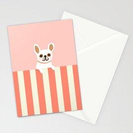 Little_French_Bulldog_LOVE_YOU_Minimalism_001B Stationery Cards