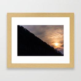 Smokey Moonrise over the Lost Coast Framed Art Print