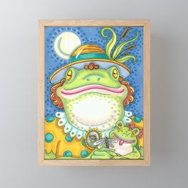 LILITH AND YOUNG Mother Frog And Baby Framed Mini Art Print