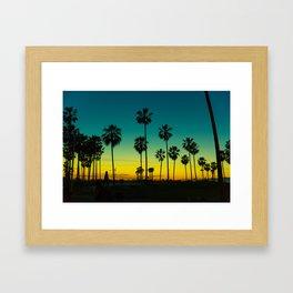 venice california at dusk Framed Art Print