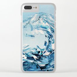 Tempestuous Wave Clear iPhone Case
