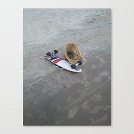 Skateboard on the Beach Canvas Print