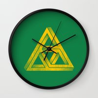 triforce Wall Clocks featuring Penrose Triforce by Quick Brown Fox